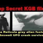 Top Secret KGB files – Zeta Reticula grey alien footage of Roswell UFO crash survivor !