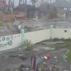 Actual Footage ng Paghampas ng Storm Surge sa Leyte