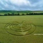 2014 crop circles The Long Man of Wilmington, East Sussex – 3rd July